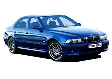 POSTER - BMW E39 M5 - (A4, A3, A2 Size) - CHOOSE REG & Colour PERSONALISE Car