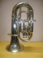 NICE-WORKING Brand-New-Silver-Bb/F-Euphonium-FOR-SALE-With-Free-Hard-Case-M/P