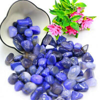 Blue Agate Ore Crushed Gravel Stone Chunk Lots Degaussing Improve Jewelry
