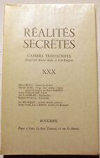 SURREALISME/REALITES SECRETES/N°XXX/REVUE DE M.BEALU/1967/BOUSQUET/HENRI PARISOT