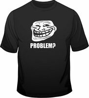 Troll Face Meme Problem? Gamer Web Geek Funny Mens Loose Fit Cotton T-Shirt