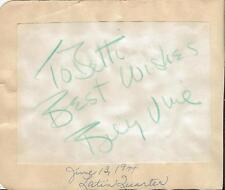 George Olsen & Billy Vine Dual Signed Vintage Album Page