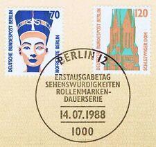 Berlin 1988: Nofretete+Schleswiger Dom Nr. 814+815 mit Ersttagsstempel! 1A! 1803