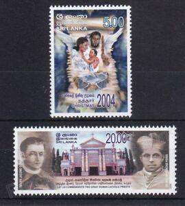 SRI LANKA MNH STAMP SET 2004 CHRISTMAS SG 1720-1721