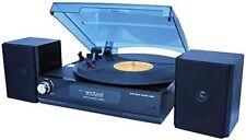 Premium Portable 3 Speed Turntable Vinyl Stereo Audio Speakers Record Player HOT