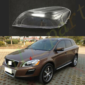 Left Side Headlight Clear Lens Cover +  Glue Fit For Volvo XC60 2010~2013