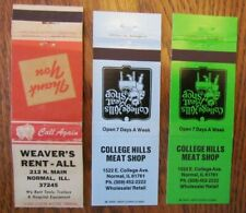 NORMAL, ILLINOIS: LOT OF 3 DIFFERENT MATCHBOOK MATCHCOVERS -F