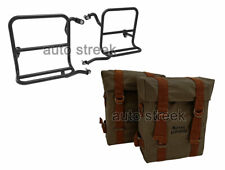 Royal Enfield Olive Color Military Pannier & Fitting Frame For Classic 350 500