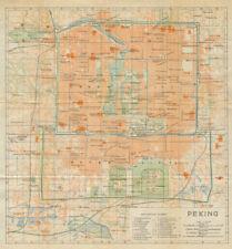 'Peking'. Beijing antique town city plan. China 1924 old map chart