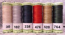 6 Heavy Duty GUTERMANN 100% Polyester Topstitching Thread 33 yard spools