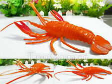 20cm Orange Rubber Lobster Figure Realistic Sea Animal Toy