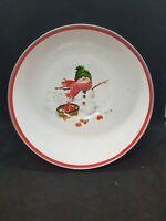 Hallmark Jan Karon Snowman Apples Enamel Serving Bowl