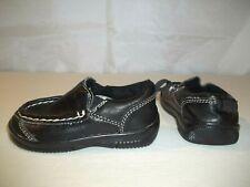 Okie Dokie Toddler Boys Shoes Size 4 Loafers Slip On Black