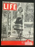 LIFE MAGAZINE - July 17 1944 - FASHION / PEASANT CLOTHES / Charles de Gaulle