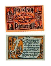 Almerode Notgeld 2 Scheine. Los 1527. schoeniger-notgeld