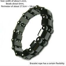 Biomagnetism Weight Loss Health Care Magnetic Therapy Round Black Stone Bracelet