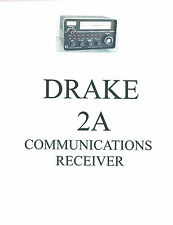 Drake 2-A  Operation Service Manual +  2-AC  2-BQ  2-LF