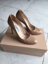Prada Chaussures Escarpins Femme Cuir Vernis P 38,5 Nude
