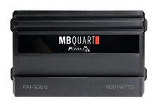 MB QUART FA1-900.5 900 Watt 5 Channel Amplifier Class A/B+D Car Audio Amp+Remote