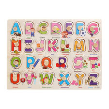 Wooden Alphabet puzzle Matching Toy Montessori Puzzle Educational Early Edu P2S4