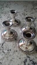 La Pierre Sterling Silver Silver Candlesticks nice Lot of 4 matching 6A or scrap
