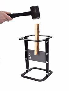 Kindling Splitter Log Firewood Wood Cutter Easy Safe - Black
