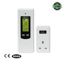 Wireless Digital Plug in Heating Thermostat Remote Control Electric RF Socket UK