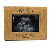 Personalised Wooden First Baby Scan Photo Frame FW348