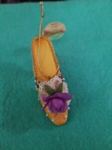 """Ashton Drake Stepping in Time Heirloom Ornaments """"Rococo Corsage"""" Preloved"""