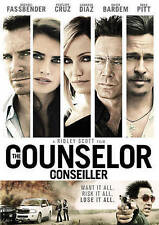 The Counselor (DVD, 2013, Widescreen) New