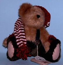 "Boyds Bears plush 8 in. jointed bear ""Ernie Elfbeary, # 918358 Santa elf New Ret"