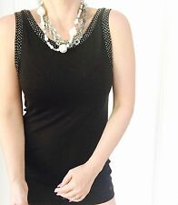 GUESS DESIGNER VISCOSE BLACK WORK TOP SZ S