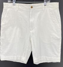 Grayers Men's White Bermuda Cotton Linen Blend Shorts Size 38W  New