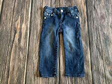 Baby Boy True Religion Dark Wash Straight Leg Jeans Size 24M NICE