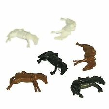 BMC ACW & Western Style Set Of Dead Plastic Cavalry Horses SEALED NEW