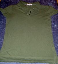 Aeropostale Polo Shirt green Size Medium Slim Fit Free USA Shipping!