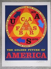 """Robert Indiana """"The Golden Future of America"""" Serigraph Hand Signed & Numbered"""