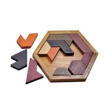 Geometric Shape Wooden Puzzle Toys for Boys & Girls Ages 3+ (Geometric-W)