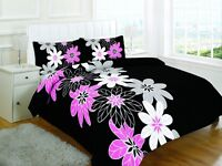 Luxury Floral Black Design Duvet Cover Set Bedding with Pillowcase Bed Cover