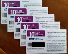 TWO (2x) Lowes 10% OFFCoupons - ONLINE or INSTORE SUPER FAST Delivery-USE  NOW