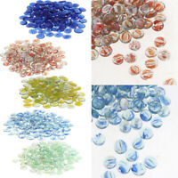 100Pcs Crystal Glass Marble Beads for Aquarium 5 Colors