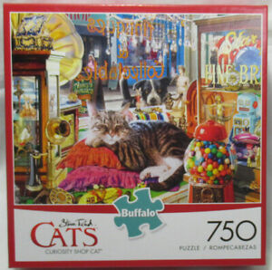 Buffalo 750 Piece Puzzle Steve Reid CATS CURIOSITY SHOP CAT
