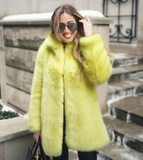 ZARA YELLOW COLOUR  FAUX FUR COAT  AW2017/18 BNWT SIZE S REF.4369/253