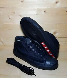 Converse Jack Purcell Pro Mid Top Triple Black Casual Shoes Mens Sz 8 (168793C)