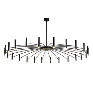 Modern Black Branch Chandelier Metal Pendant Light Nordic Ceiling Lamp Fixtures