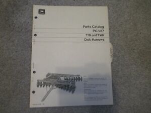 1970 John Deere TA TWA disk harrows parts catalog manual