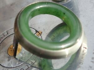 FOR A HARDY PERFECT REEL - JADE AGATE IN GERMAN SILVER BEZEL - From Special Run