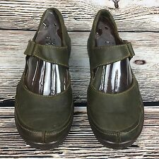 Born Womens Mary Jane Shoes Size 10 Green Leather Comfort Flats Shoes