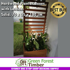 Bangkirai Hardwood Planter Boxes with Lattice. Solid. 70 x 35 x 180 cm