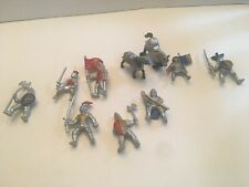 "Safari Ltd Knights & Horses Mini Figures 2"" Lot of 10 Pieces"